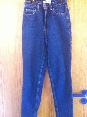 American Apparel dunkelblaue HighWaisted Jeans mit geradem Bein