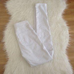 American Apparel Easy Jeans Hose Gr. XS 34 High Waist Pants Weiß Stretch