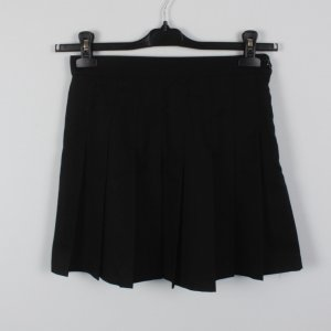 American Apparel Plaid Skirt black polyester