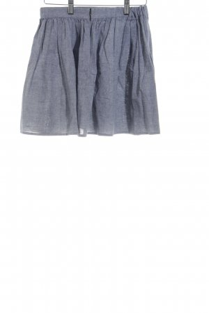 American Apparel Plaid Skirt slate-gray flecked casual look