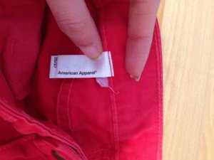 American Apparel High Waist Blogger Jeans Hose