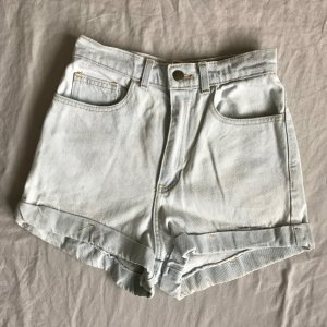 American Apparel High Waist Denim Shorts