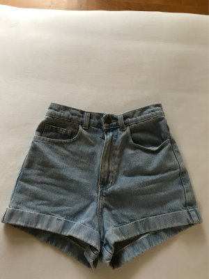 American Apparel High-Waist Jeansshorts