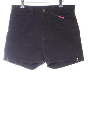 American Apparel High-Waist-Shorts schwarz Casual-Look