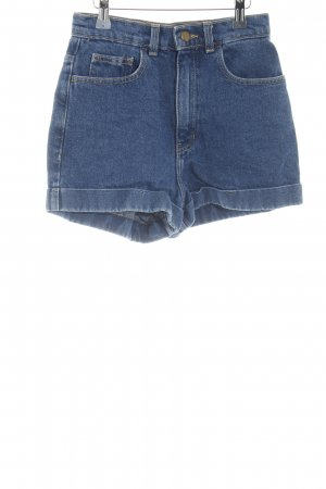 American Apparel High-Waist-Shorts blue casual look