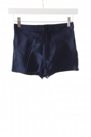 American Apparel High-Waist-Shorts dunkelblau Glanz-Optik