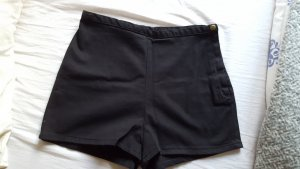 American Apparel High-Waist-Shorts black
