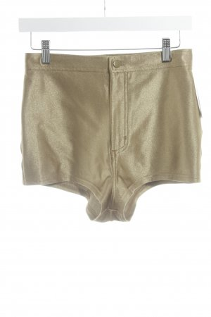 American Apparel High-Waist-Shorts goldfarben extravaganter Stil