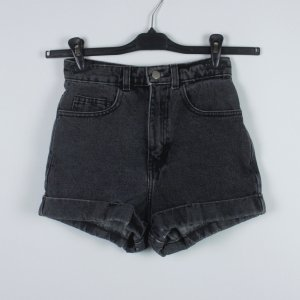 American Apparel High waist short antraciet Katoen