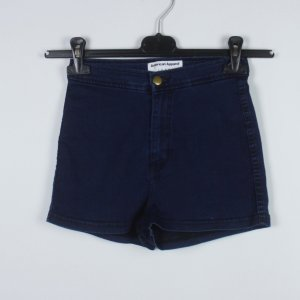 American Apparel Pantalón corto de talle alto azul oscuro tejido mezclado