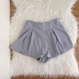 AMERICAN APPAREL Highwaist Hampton Shorts XS gestreift weiß 100 % Baumwolle
