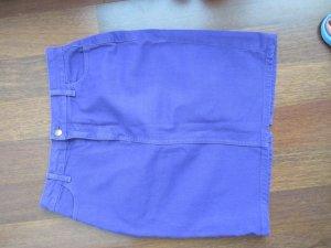 American Apparel Highwaist Jeansrock in flieder, Größe XL