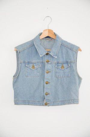 American Apparel Smanicato jeans blu fiordaliso Cotone