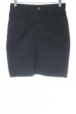 American Apparel Denim Skirt black mixture fibre