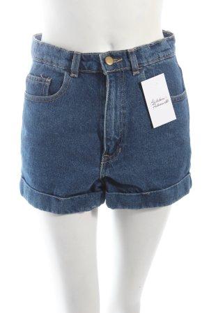American Apparel Jeansshorts blau Retro-Look