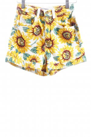 American Apparel Jeansshorts Blumenmuster Casual-Look
