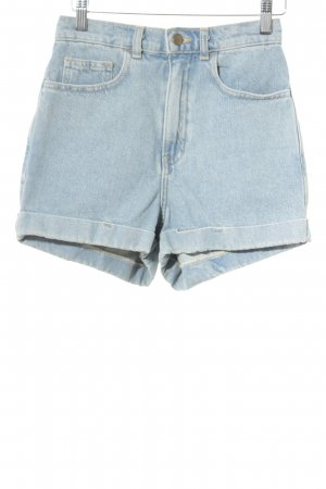 American Apparel Denim Shorts light blue casual look