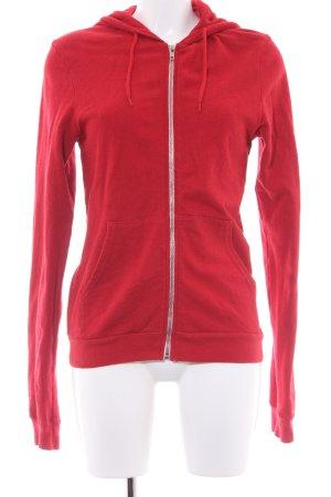 American Apparel Kapuzenjacke rot sportlicher Stil