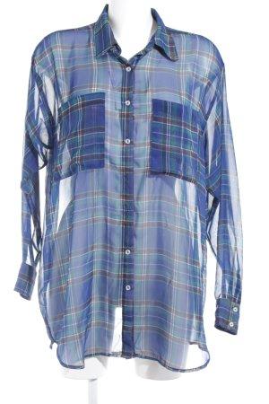 American Apparel Blusa a cuadros estampado a cuadros look transparente