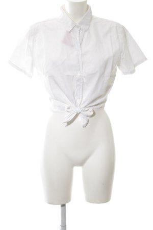 American Apparel Kurzarm-Bluse weiß klassischer Stil