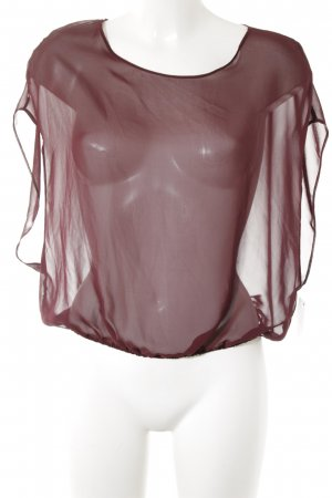 American Apparel Short Sleeved Blouse bordeaux simple style