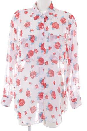 American Apparel Langarm-Bluse Blumenmuster Casual-Look
