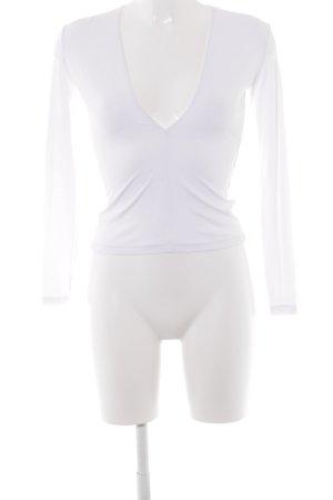 American Apparel Langarm-Bluse weiß klassischer Stil