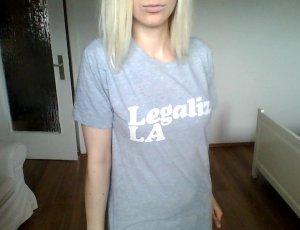 American Apparel Legalize LA Shirt grau