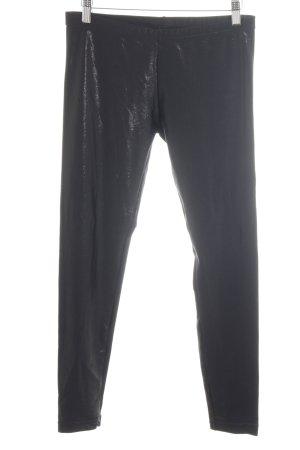 American Apparel Leggings black wet-look