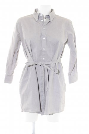 American Apparel Long-Bluse hellgrau-grau meliert Casual-Look
