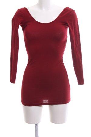 American Apparel Camicia lunga rosso stile casual