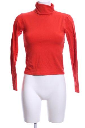 American Apparel Manica lunga rosso stile casual