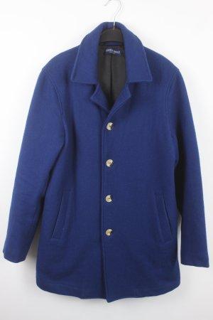 American Apparel Manteau d'hiver bleu tissu mixte