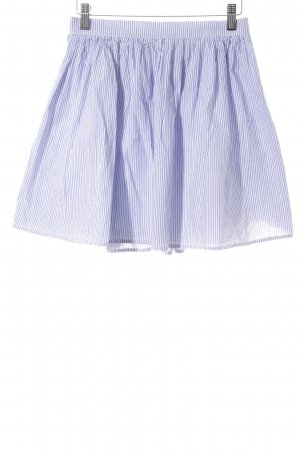 American Apparel Mini rok azuur-wit gestreept patroon
