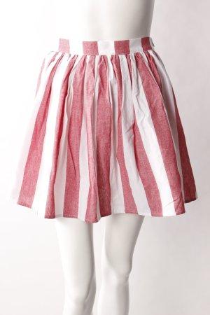 American Apparel Minirock rot-weiß
