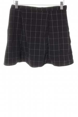 American Apparel Miniskirt black-natural white check pattern casual look