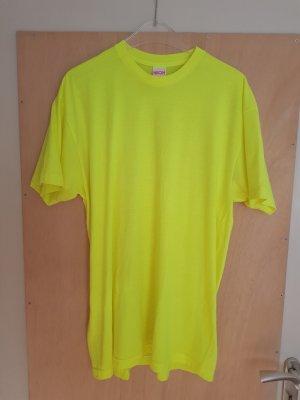 American Apparel Oversized shirt geel-neongeel