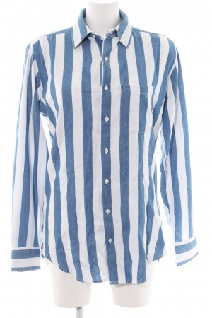 American Apparel Oversized Blouse blue-white striped pattern business style