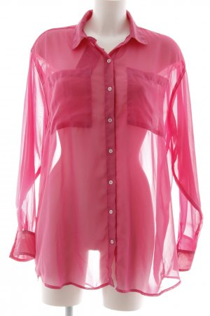 American Apparel Oversized Bluse pink Party-Look