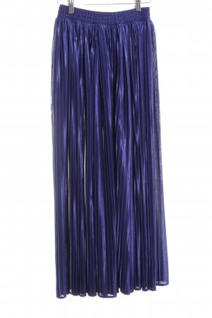 American Apparel Pleated Skirt dark violet elegant