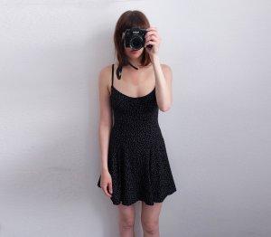 american apparel polka dot tellerkleid plissee sommer S