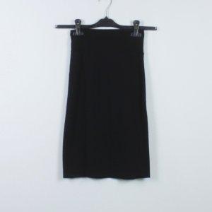 American Apparel Falda de talle alto negro Algodón