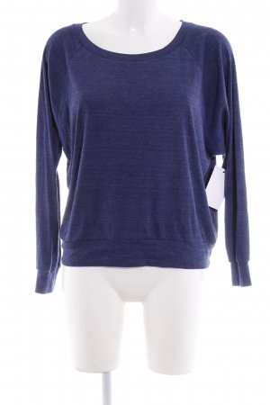 American Apparel Kraagloze sweater donkerblauw casual uitstraling