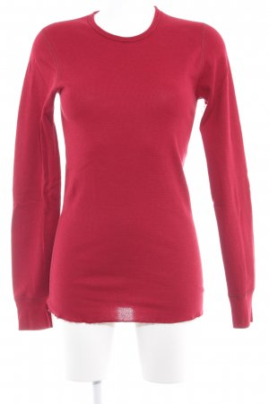 American Apparel Kraagloze sweater donkerrood minimalistische stijl