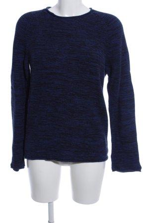 American Apparel Maglione girocollo blu-nero puntinato stile casual