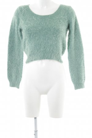American Apparel Pull ras du cou turquoise style extravagant