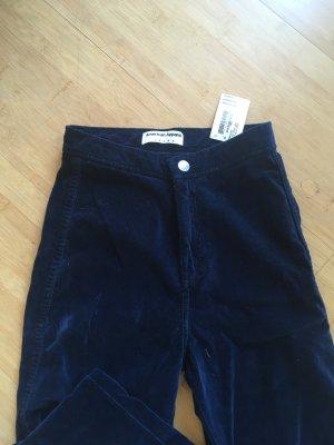 American Apparel Jeans a vita alta blu scuro-nero