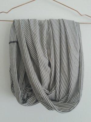 American Apparel Schal Schlauchschal weiss/schwarz gestreift