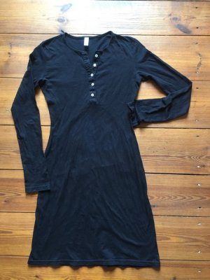 American Apparel: schlichtes Baumwoll-Kleid mit Knöpfen, schwarz, Gr. M/ 38
