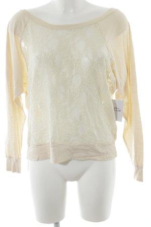 American Apparel Shirttunika creme-hellbeige Blumenmuster Elegant